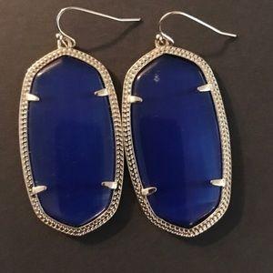 """Blue 2.24"""" L x 1"""" W Kendra Scott earrings."""
